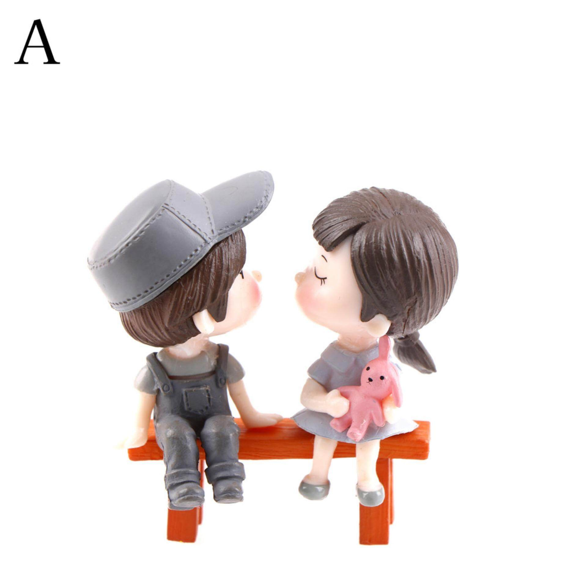Jettingbuy Moss micro - landscape  festive ornaments stool couples small ornaments  Type:A