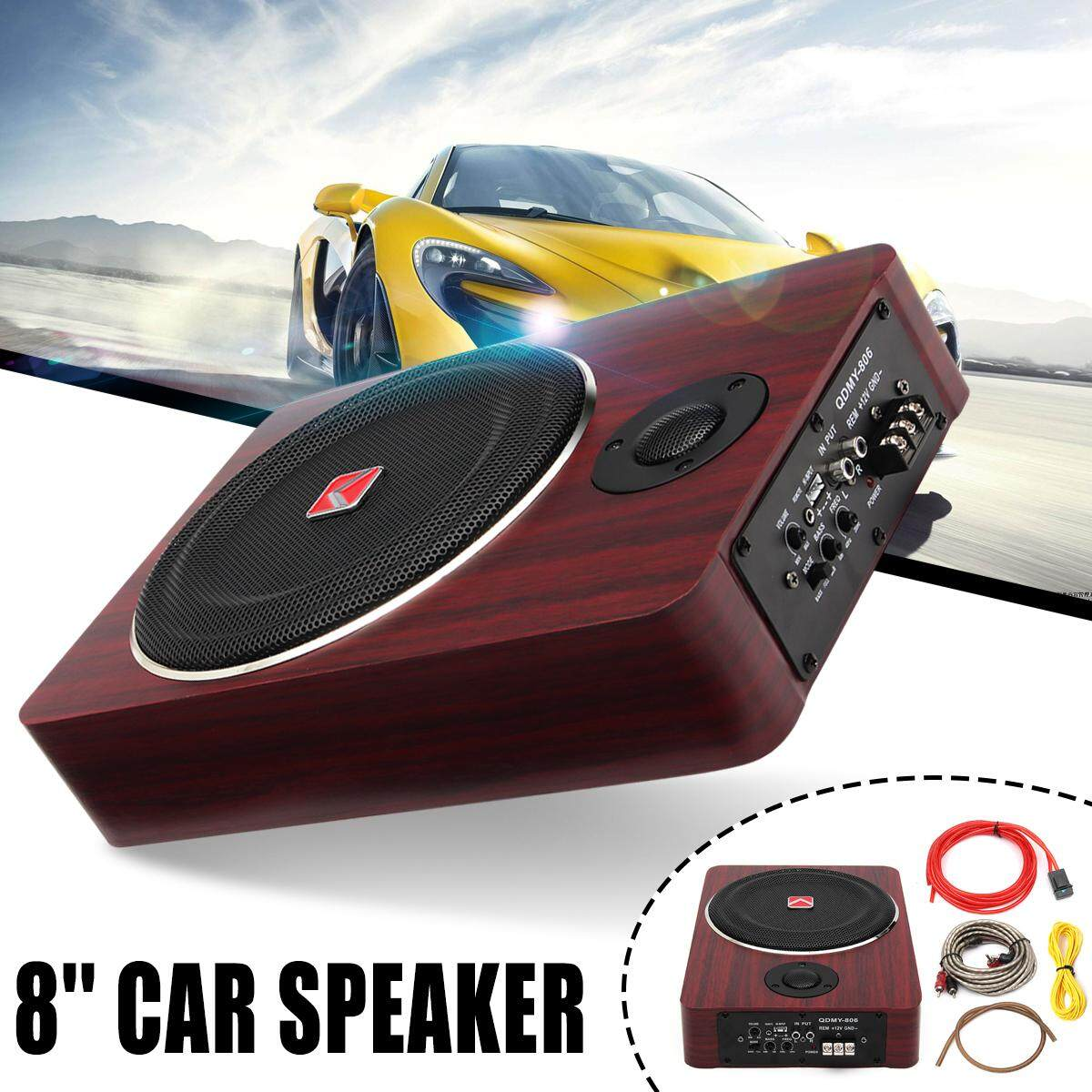 Automotive Amplifiers Buy At Best Price In Amplifier Circuit Channel Power Electronic Car Ignition 8 Inch 600w Subwoofer Speaker Active Under Seat Slim Sub Woofer Amp Super Bass