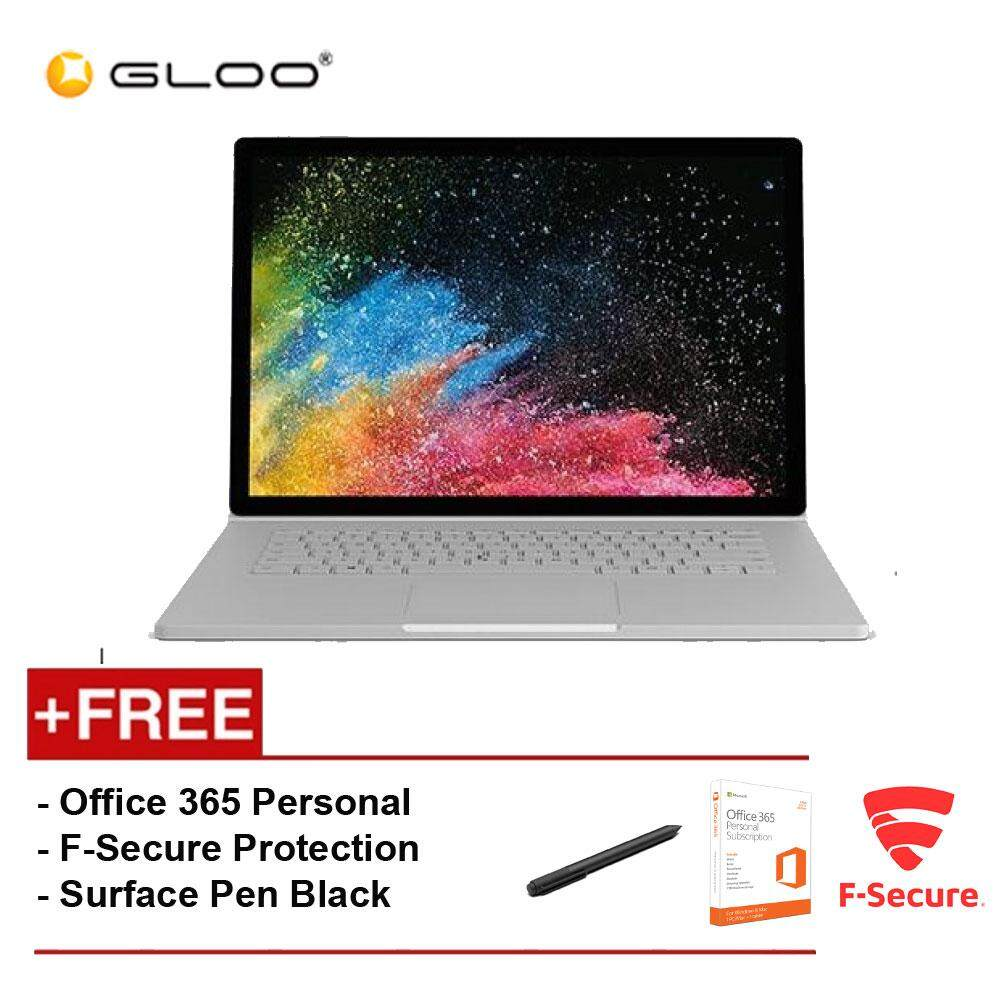 Surface Book 2 13 Core i7/8GB RAM - 256GB [FREE F-Secure End Point Protection + Off 365 Personal + Microsoft Surface Pen Black] Malaysia