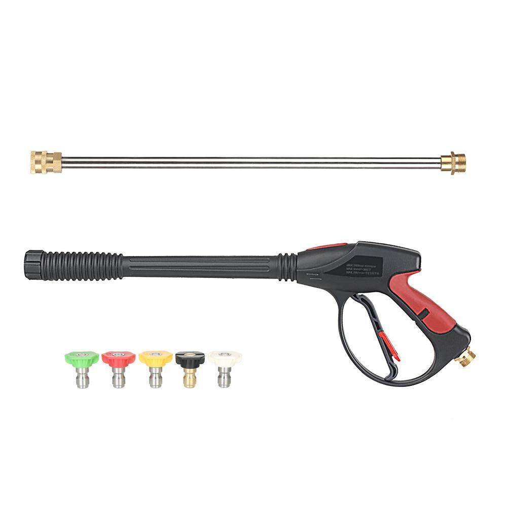 Pressure Washer 4000 PSI Spray with 18 Extension Wand + 4 Quick Connect Nozzles and 1 Soap Nozzle for Car Pressure Power Washers