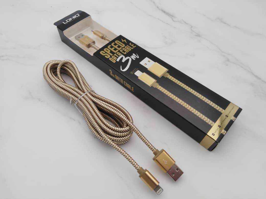 Cables For The Best Prices In Malaysia Cable Kabel Micro Usb Gold Plate Set 3 Pcs Aukey Fast Charge Data Cb Md3 Original 1 Year Warranty Ldnio Ls31 24a Meter Lightning Ios