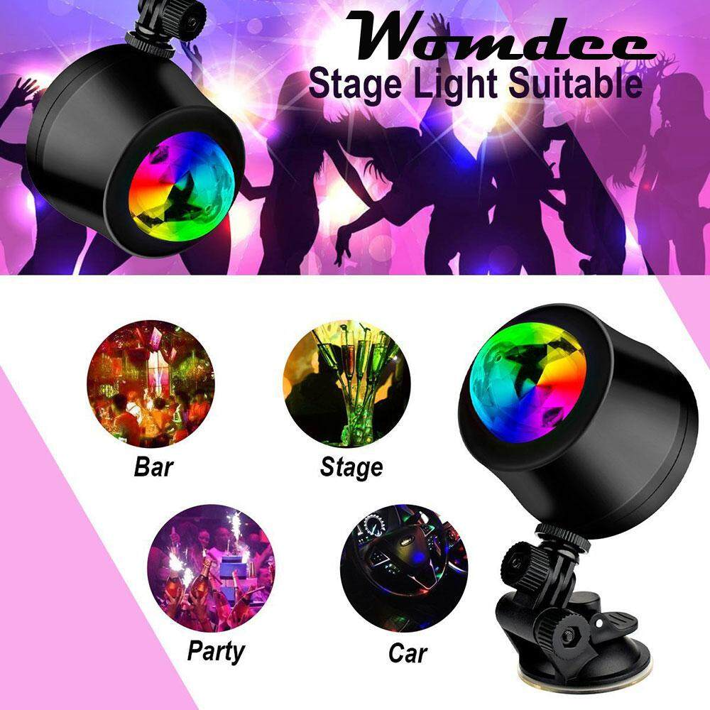 Womdee Mini Usb Led Disco Dj Stage Lights Sound Activated Strobe Effect Rgb3 Colour Changing Glitter Ball Light By Womdee.