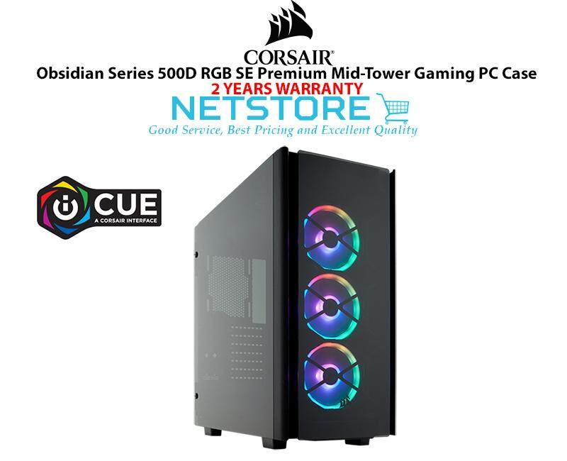 Corsair Obsidian Series 500D RGB SE Premium Tempered Glass and Aluminum Mid Tower Gaming Case CC-9011139-WW Malaysia