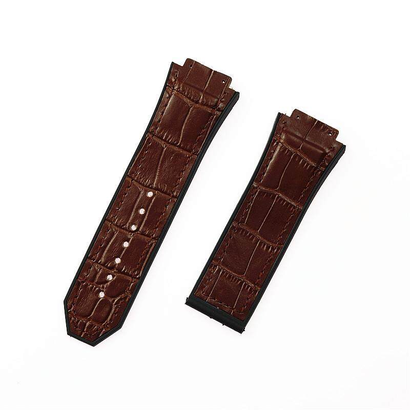 29MM Genuine Soft Cowhide Leather Wrist Watch Band Strap for Hublot Big Bang Brown Malaysia