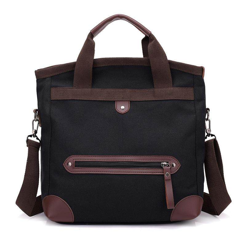 9da9bc632e1e Men Retro Multi-function Large-capacity Canvas Messenger Bag Travel Backpack