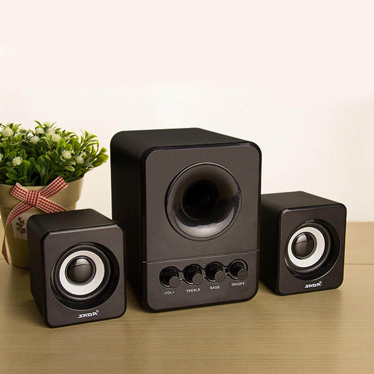 Universal Mini Portable USB Wired Combination Speaker Bass Music Player Subwoofer for Computer Cell Phone Laptop PC Malaysia