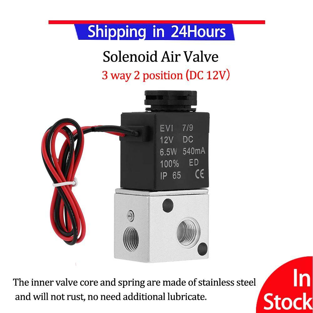 Electric Valve 3V1-06 3 Way 2 Position 1/8 BSP Normally Closed Pneumatic Solenoid Air Valve( DC 12V)