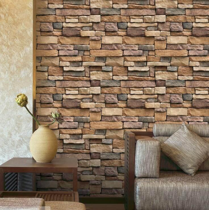 45cmx10m meter 3D Brick Pattern Self-Adhesive Waterproof Contact Paper Wallpaper