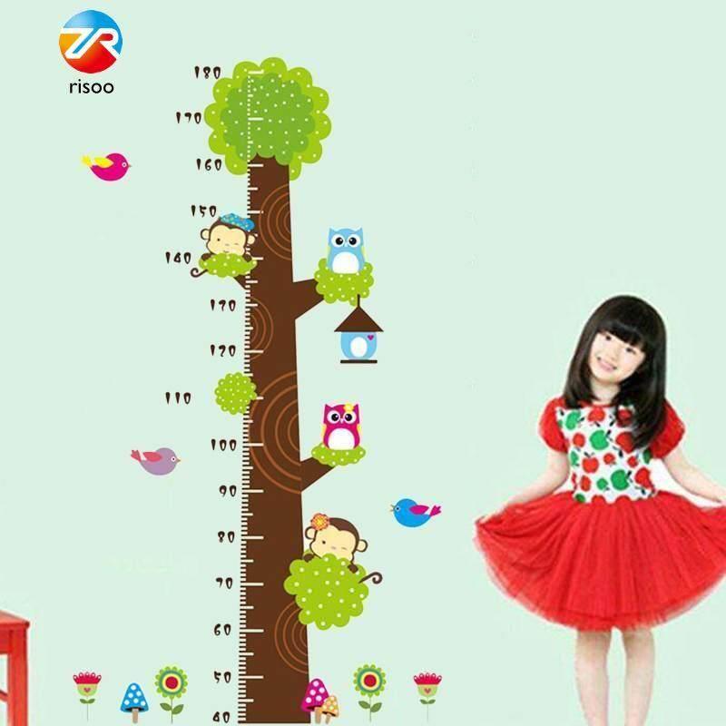 Risoo Fashion Kids Height Measure Animal Room DIY Huge Murals Wall Sticker
