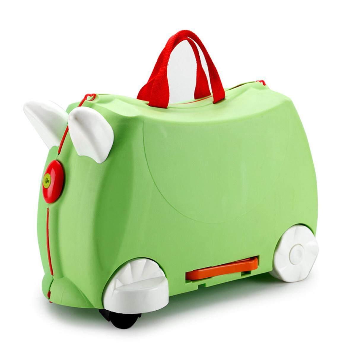 Ride On Suitcase Toy Box Kids Children Travel Luggage 3 Colour Pink Blue Hqlu577 By Freebang.