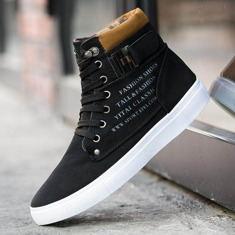 big sale f4acb 78e72 Ishowmall Fashion Mens Oxfords Casual High Top Shoes Shoes Sneakers New