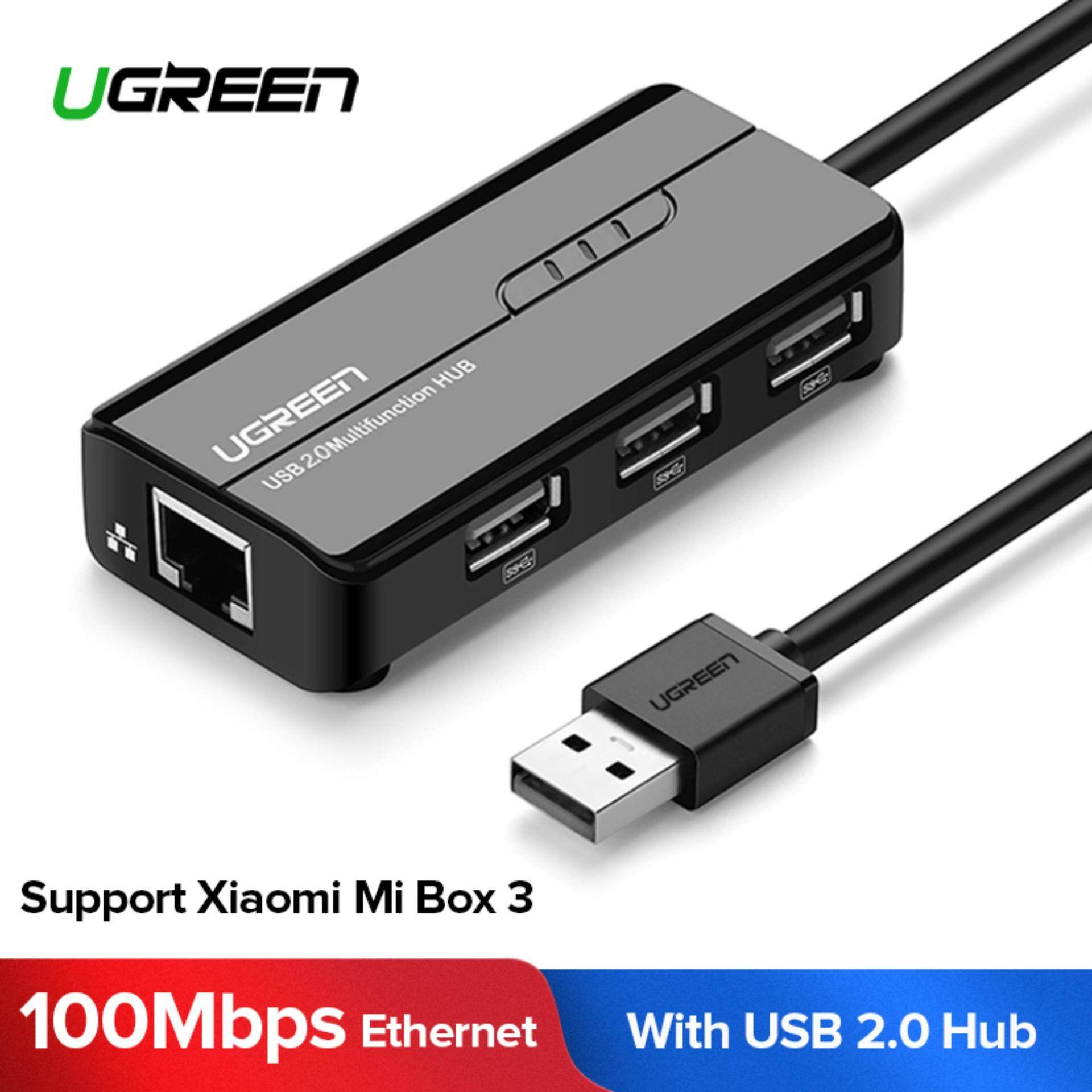 Ugreen Rj45 Ethernet Adapter With Usb 2.0 Hub Usb Network Adapter 10/100mbps For Nintendo Switch, Wii, Windows Surface Pro, Macbook Air/retina, Chromebook, And More Pc By Ugreen Flagship Store.