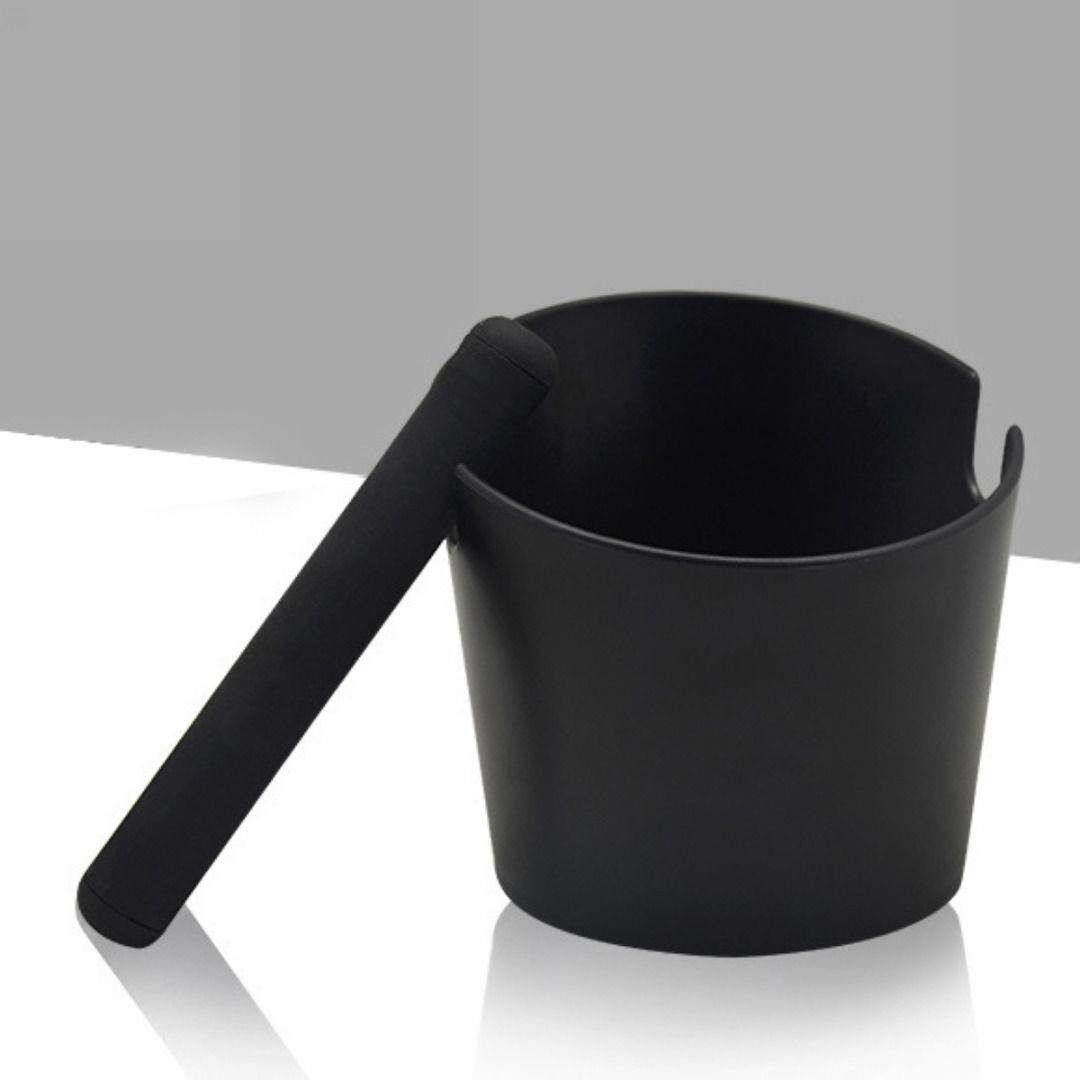 Coffee Knock Box With Handle Slag Bucket Espresso Grinds Tamper Waste Bin Black By Valueshopping-Mal.