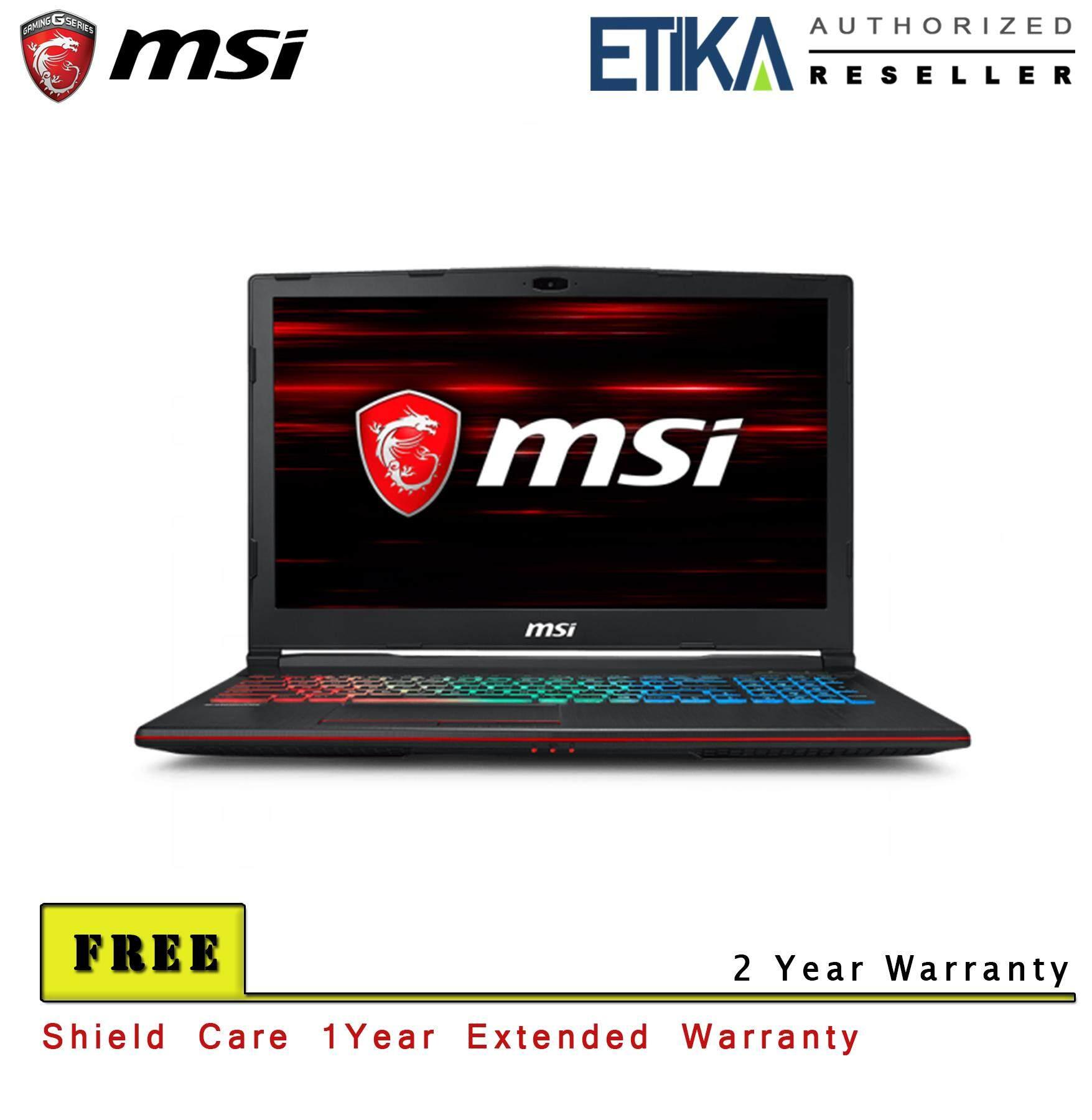 MSI GP63 Leopard 8RD 409 (GeForce GTX 1050 Ti, 4GB GDDR5) Gaming Laptop - Free Shieldcare + Backpack Malaysia