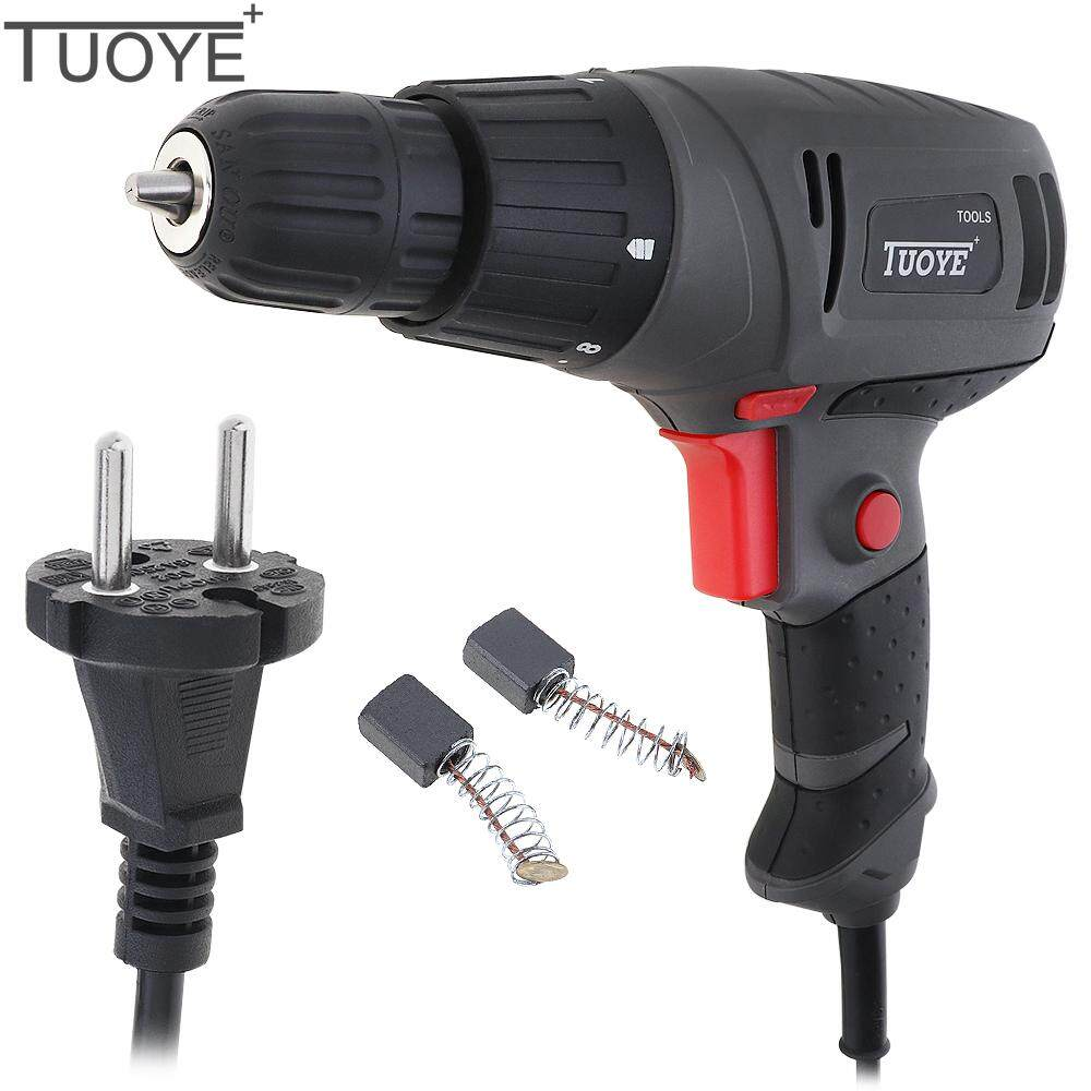 AC 100 - 240V 300W Gray Electric Drill Tool with Rotation Adjustment Switch and 2pcs Carbon Brushes for Handling Screws / Punching
