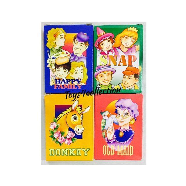 Kids Classic Card Game (happy Family/donkey/old Maid/snap) Olden Card Games By Toys4collection.