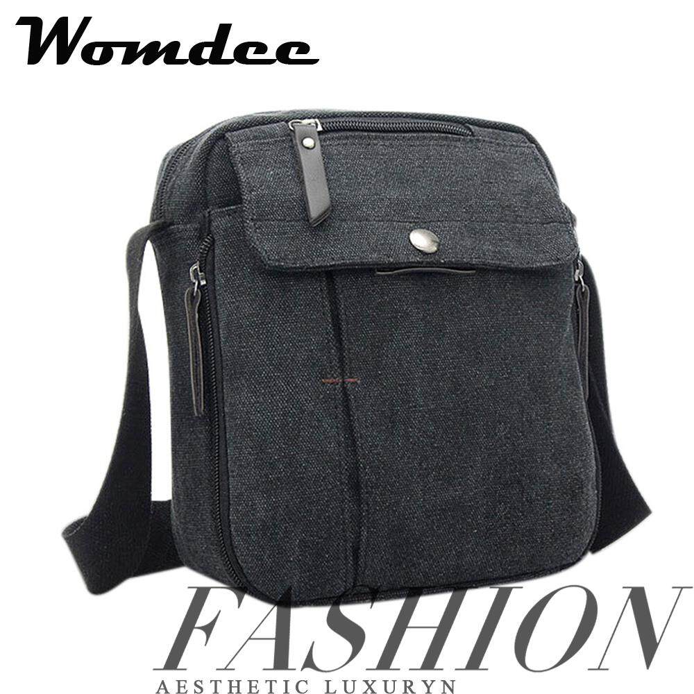 052beb4376fa Womdee Anti Theft Crossbody Bag Canvas Bag with Zipper Messenger Bag for Men  Work Travel School