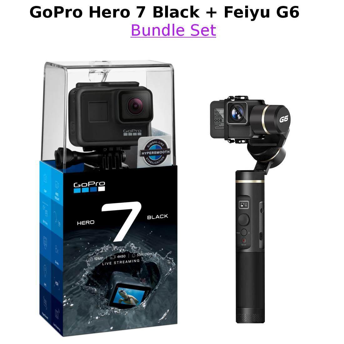 GoPro Hero 7 Black + Feiyu G6 3-Axis Stabilized Handheld Gimbal for action  camera