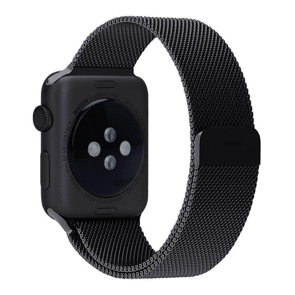 leegoal Apple Watch Band Magnetic Clasp Mesh Loop Milanese Stainless Steel Replacement Strap For Apple Watch