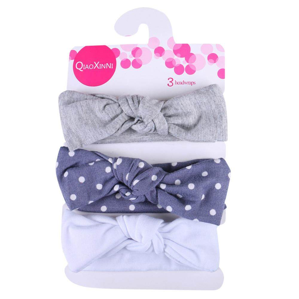 3pcs Kids Floral Headband Girls Baby Elastic Bowknot Accessories Hairband Set By Dakeres.