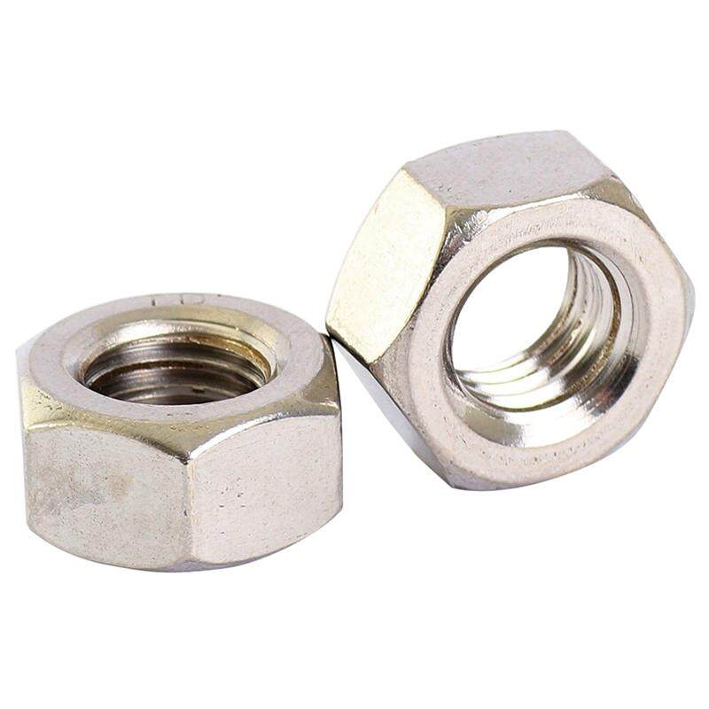 STAINLESS STEEL HEX FULL NUTS HEXAGON NUT M6 100PCS