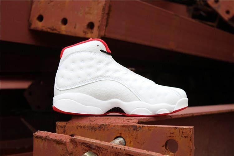 """Nike Original Michael Jordan 13 Men s Basketaball Shoe MJ White Black  Discounted Air Jordan AJ """" 7c3333bb2"""