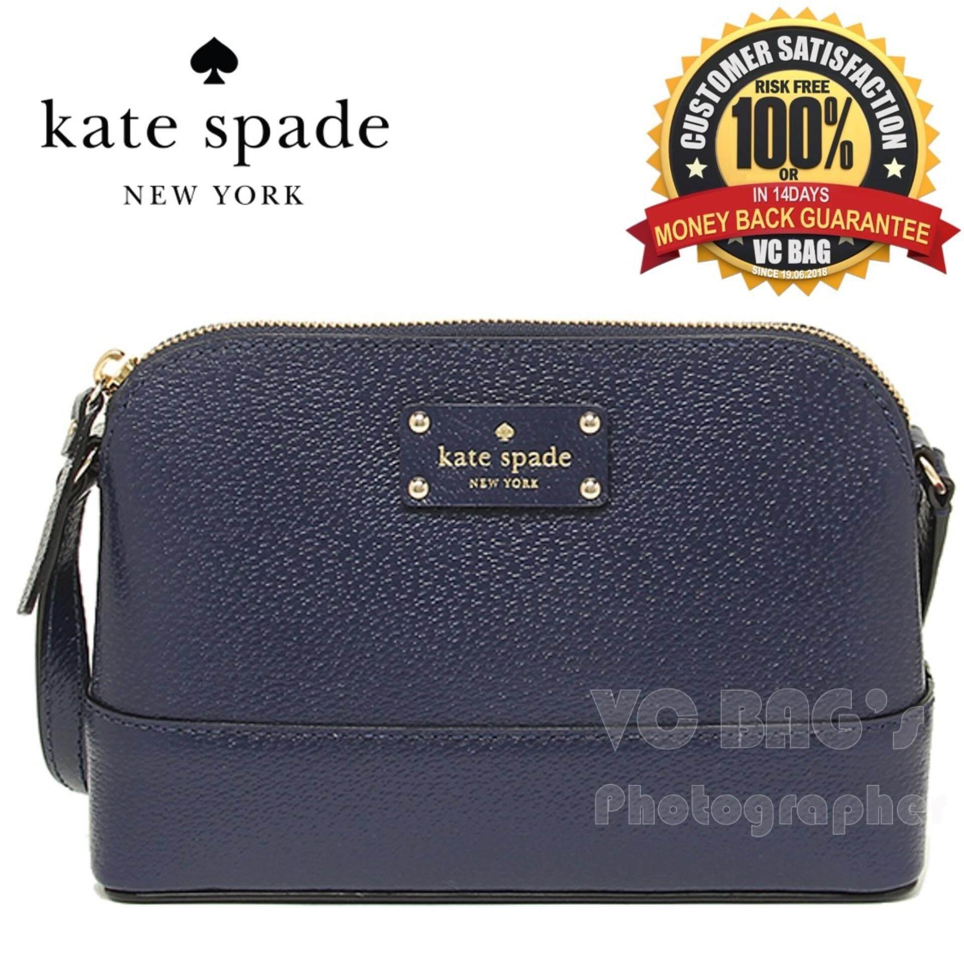 Kate Spade Wkru2895 Wellesley Hanna Shoulder Bag French Navy