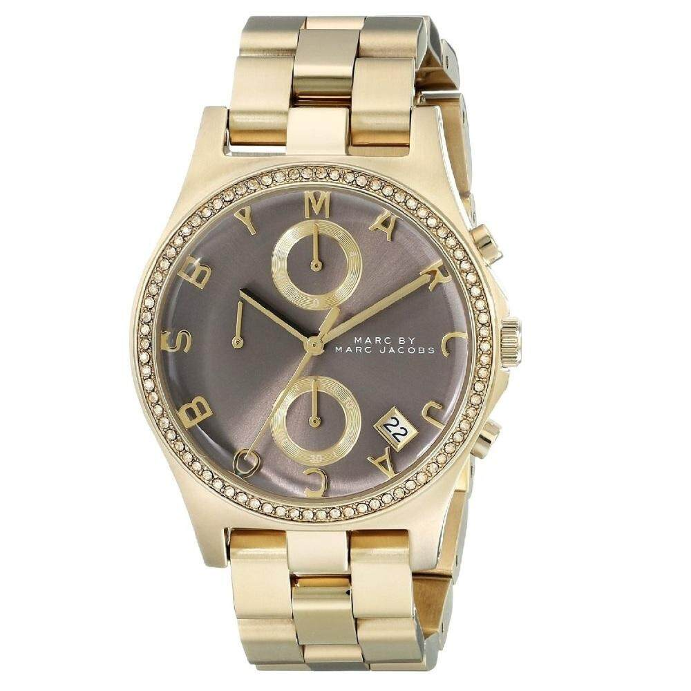 MARC BY MARC JACOBS MBM3298 Henry Chronograph Grey Dial Gold-Tone Ladies Watch (Gold & Grey) Malaysia