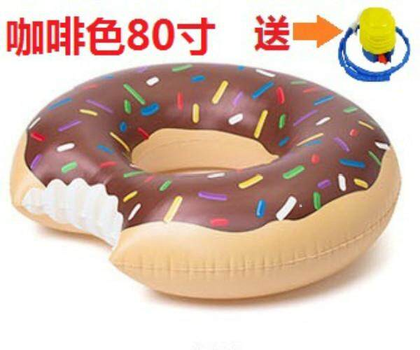 New type of swimming ring, doughnut lifesaving ring, floating drainage of toy children under the axillary circle of the thickening love circle adult