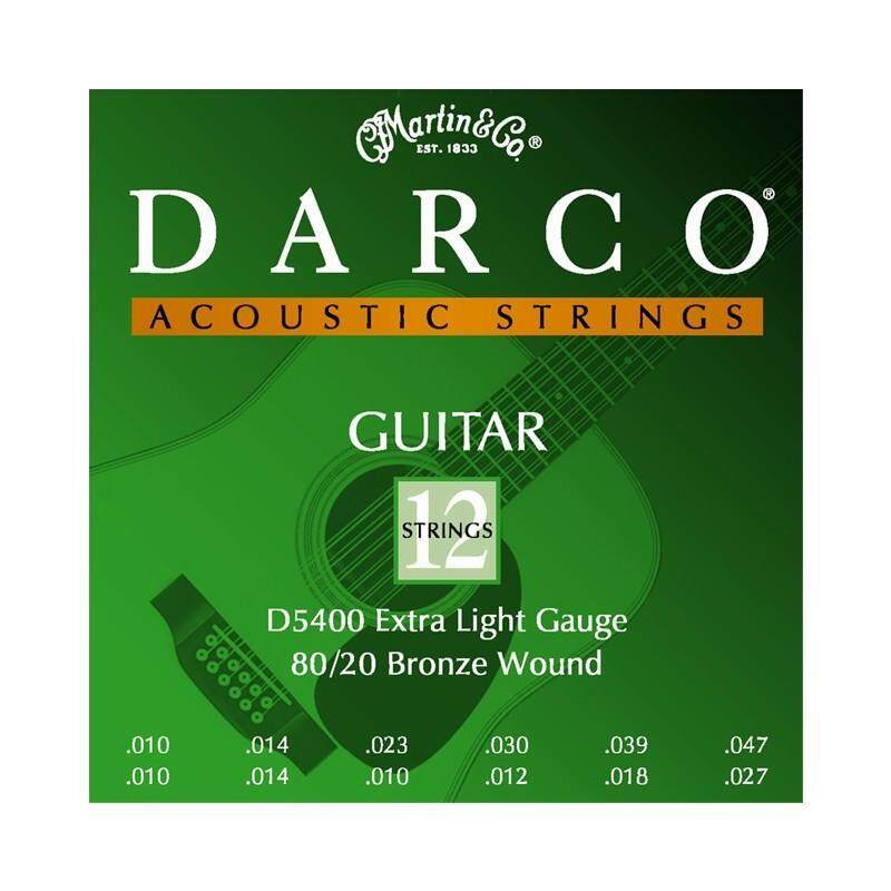 Darco D5400 12 Strings Aco Guitars Bronze ,Ext. Light 010-045 Malaysia