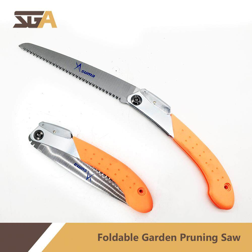 Asuma Foldable Portable Pruning Hand Saw with Anti-slip Handle Outdoor Gardening Tree Trimming Tool GERGAJI POKOK