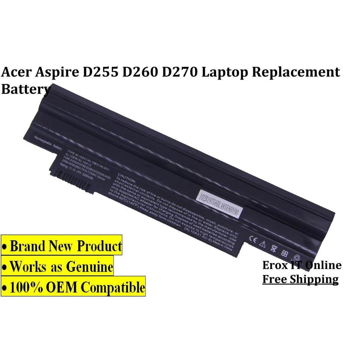 ACER ASPIRE ONE HAPPY OEM Battery / REPLACEMENT LAPTOP BATTERY FOR ASPIRE ONE D255 Battery Malaysia