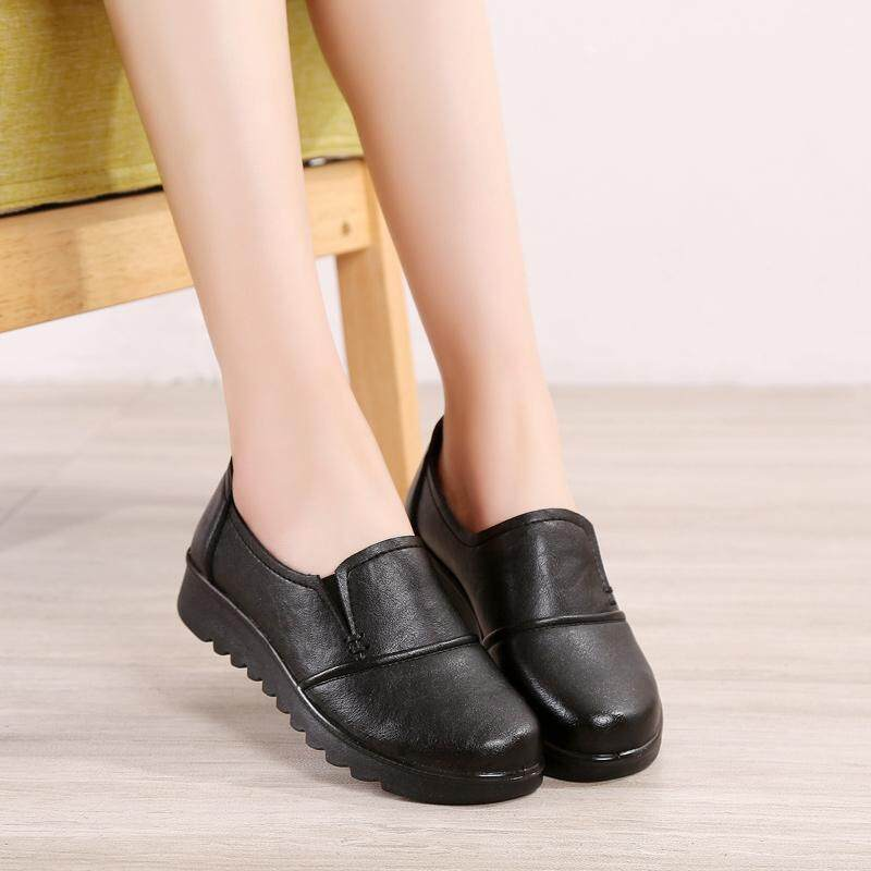 Mom Shoes 2017 Spring New Style Shoes Female Flat Heel Soft Bottom Flat  round Head a af2dbbd08ffc