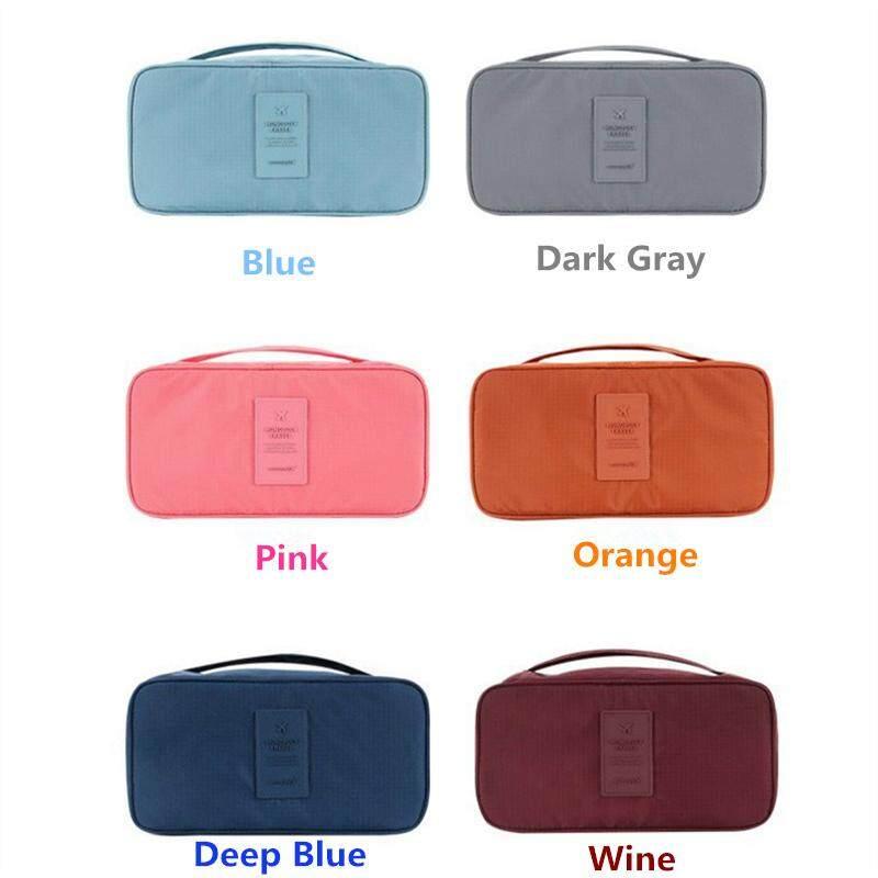 733da89cfb6d SmarTconn Travel Accessories Women's Storage Bag for Underwear Clothes  Lingerie Bra Organizer Cosmetic Pouch Suitcase Case