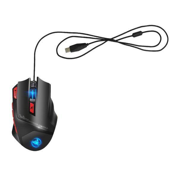 MagiDeal Wired Gaming Mice , 6000 DPI Programmable High Precision Optical USB Gaming Mouse for PC/Laptop/Desktop Windows System, RGB Color Backlit, 9 Programmable Buttons (Black) Malaysia