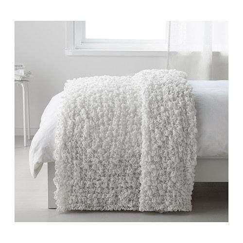 IKEA OFELIA BLANKET WHITE 130X170 CM