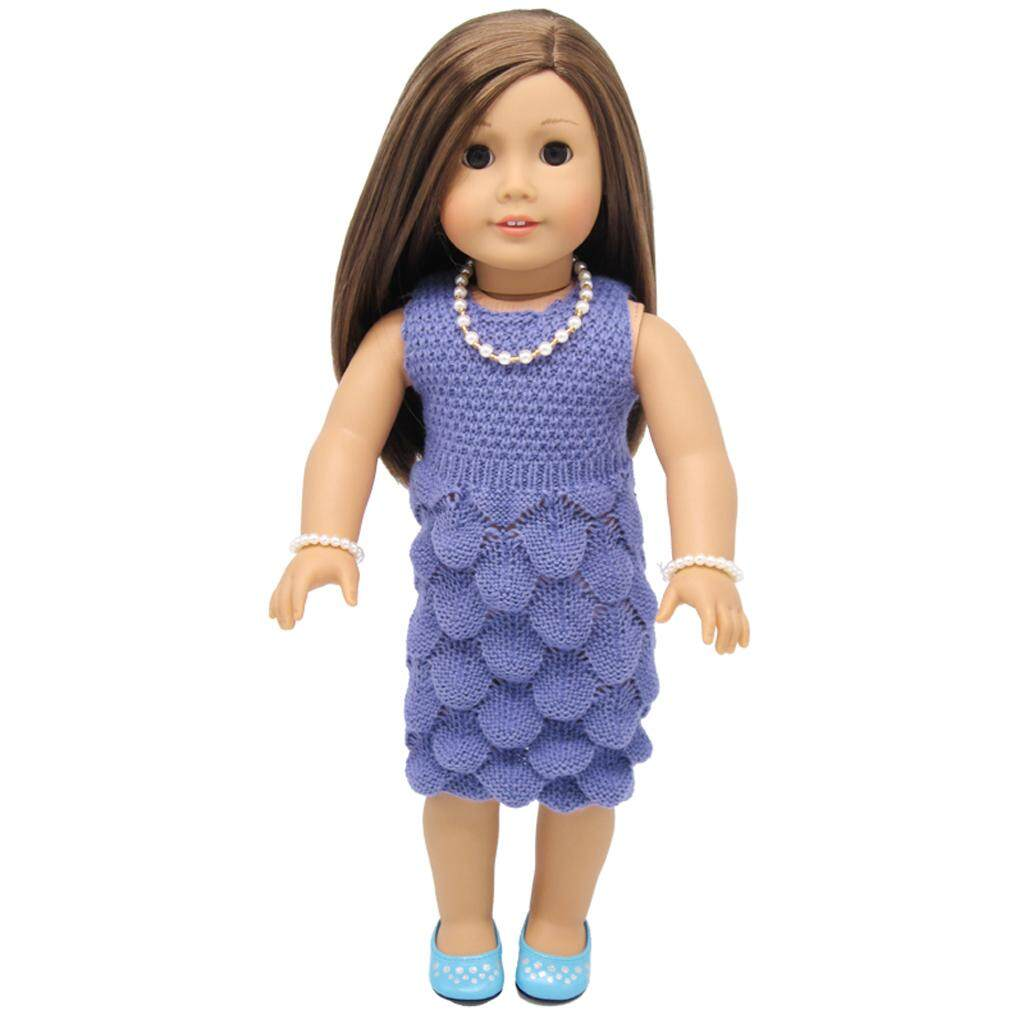Bolehdeals 18 Fashion Dolls Sweater Suit Dress Outfit Clothes For 18 Inch American Girl Our Generation Journey Doll Accessories By Bolehdeals.