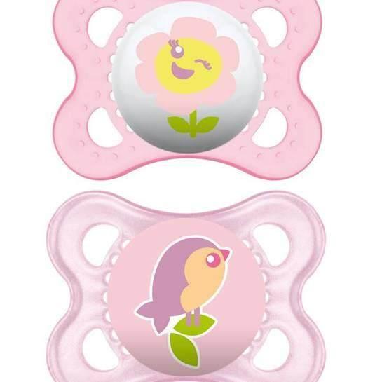 Mam Pacifier – Original ( 0 – 6 Months) Twin Set (random Design) By Halomama.
