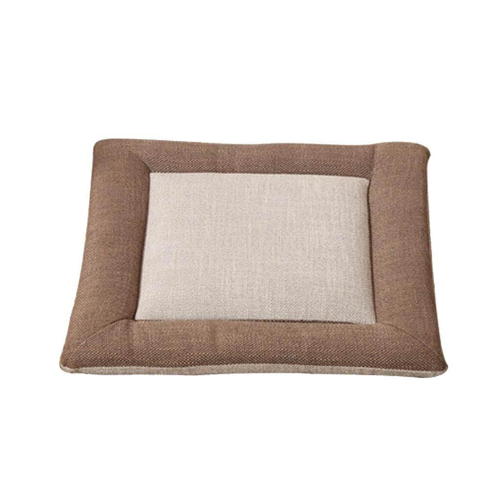 MagiDeal Flax Tatami Dining Chair Cushion Seat Mat Pillow Pad Home Decor Khaki 40cm