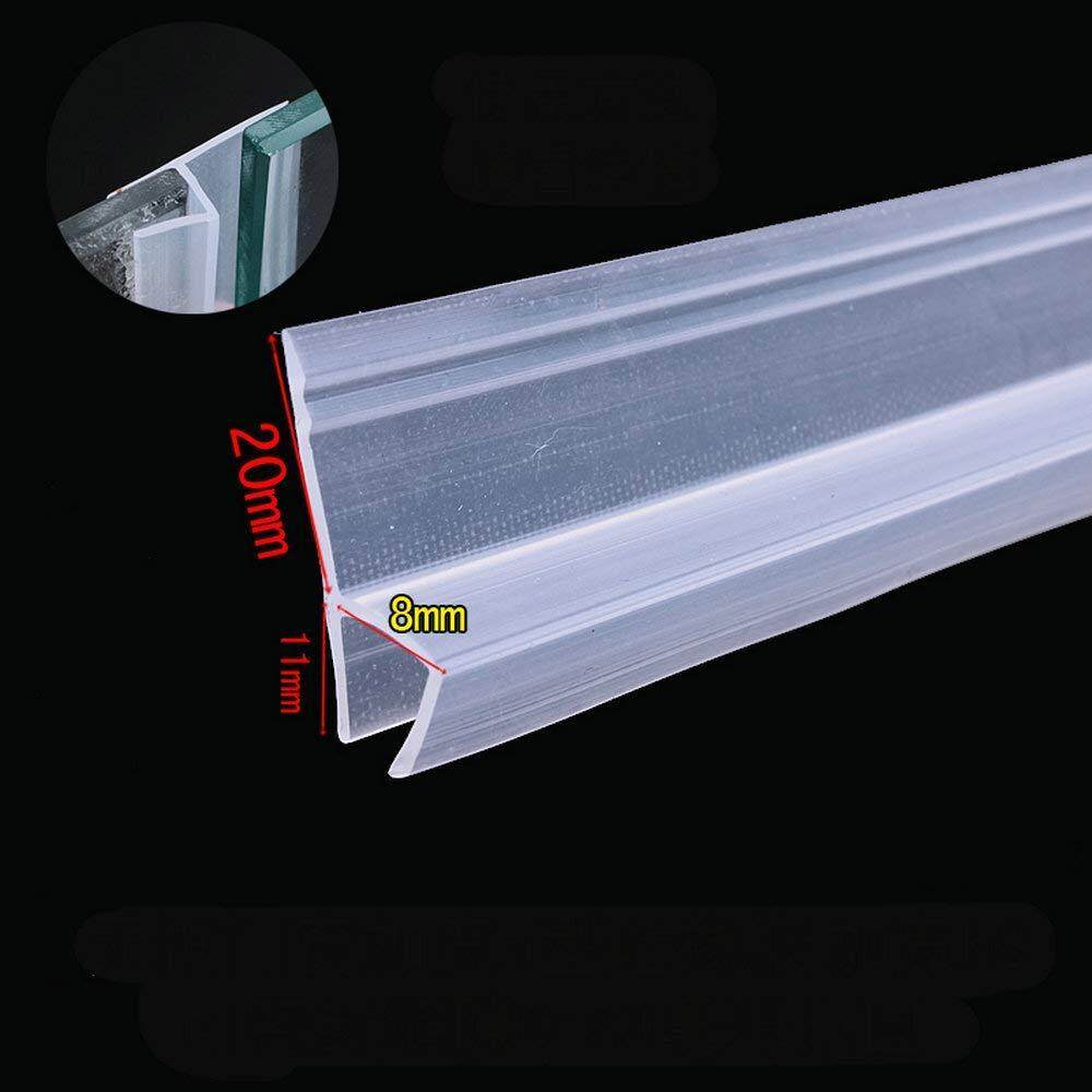 Door Window Weather Strip for 8mm Thick Glass Balcony Shower Screen Seals 5 Meters 20mm Wing h Transparent