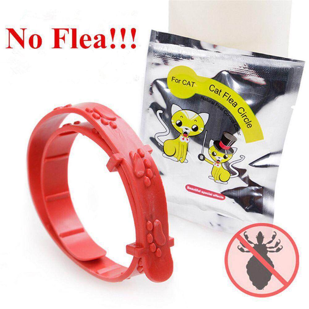 Waterproof Adjustable Cat/kitten Anti Flea Collar Neck Trap Red By Petto.biz.