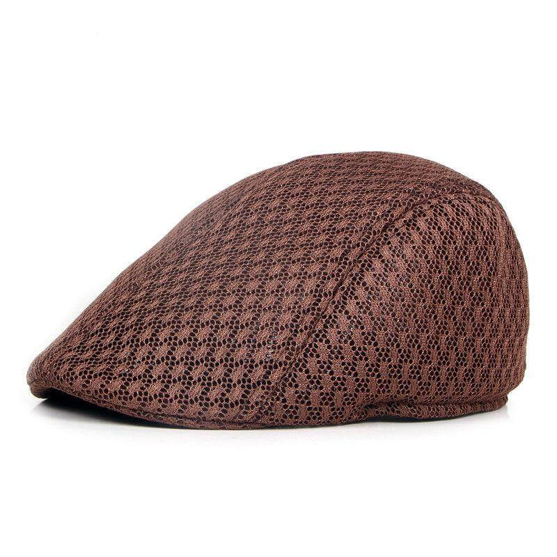 05e9c208439 New Mesh Mens Gatsby Hat Cabbie Flat Cap Newsboy Golf Beret Irish Hats  coffee