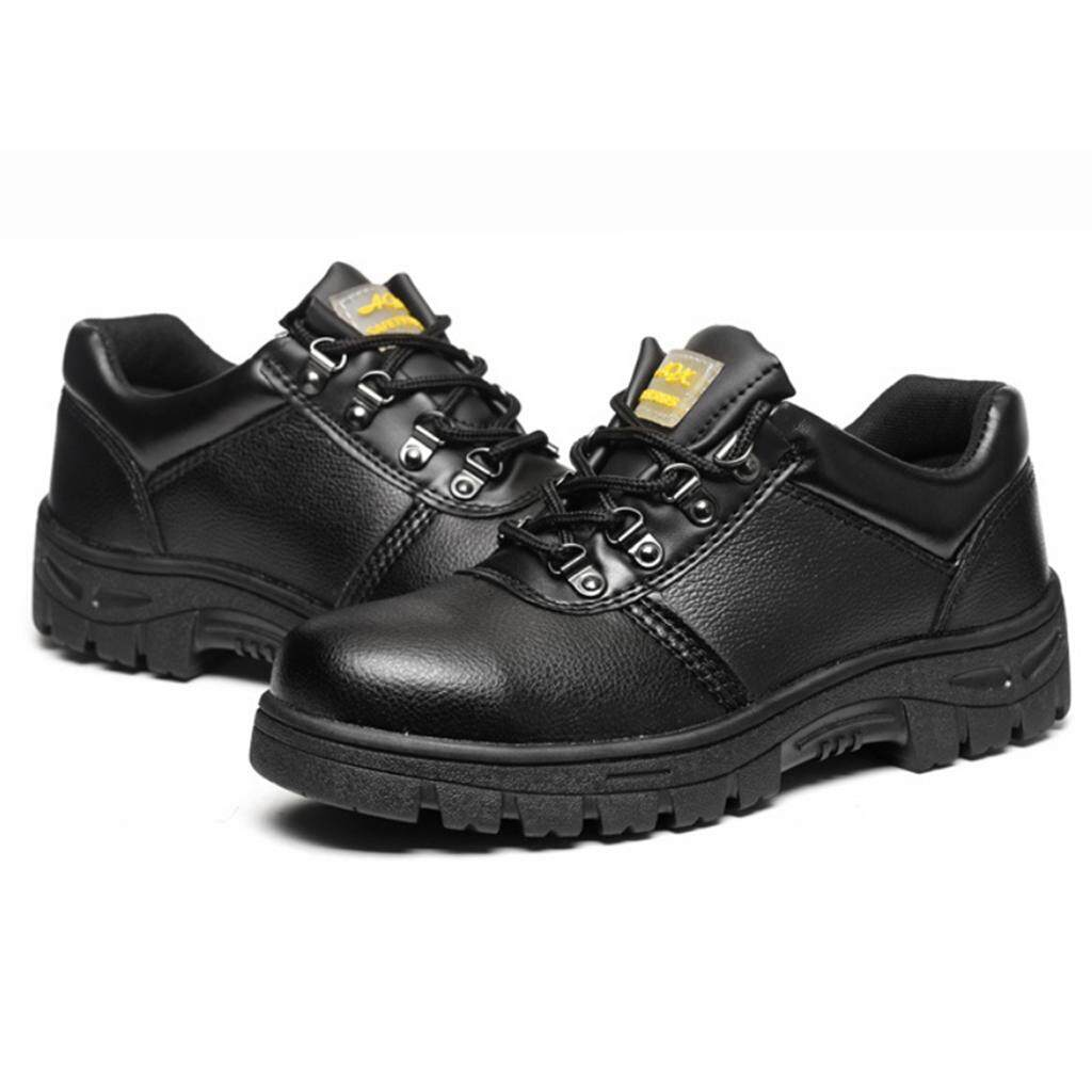 Miracle Shining Safety Work Boots Protective Shoes Steel Toe Water Resistant Slip on Boot US 8.5