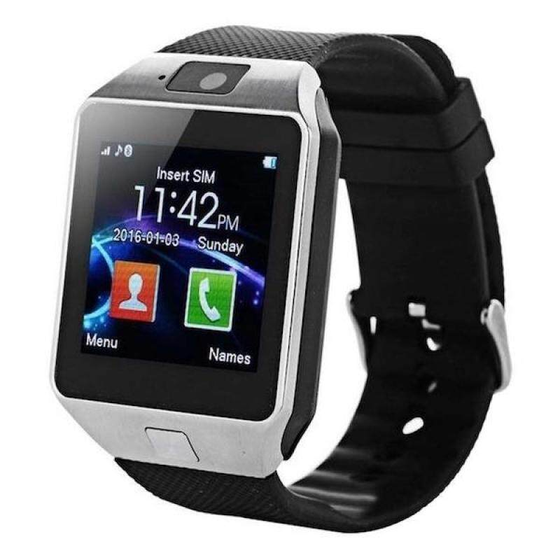 DZ09 Bluetooth Smart Watch -  Upgraded Touchscreen Sport Smart Wrist Watch Fitness Tracker Support SIM TF Card With Camera Pedometer for Android Samsung LG (SILVER BLACK) Malaysia