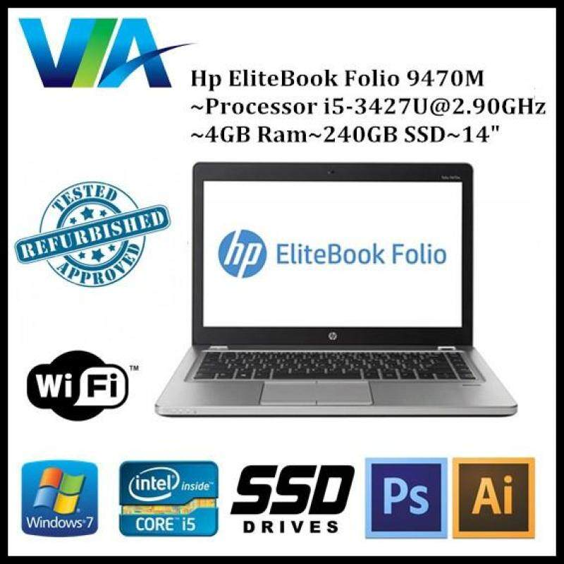 Refurb HP EliteBook Folio 9470M~Core i5 3427U~4Gb~240Gb SSD~14 Malaysia