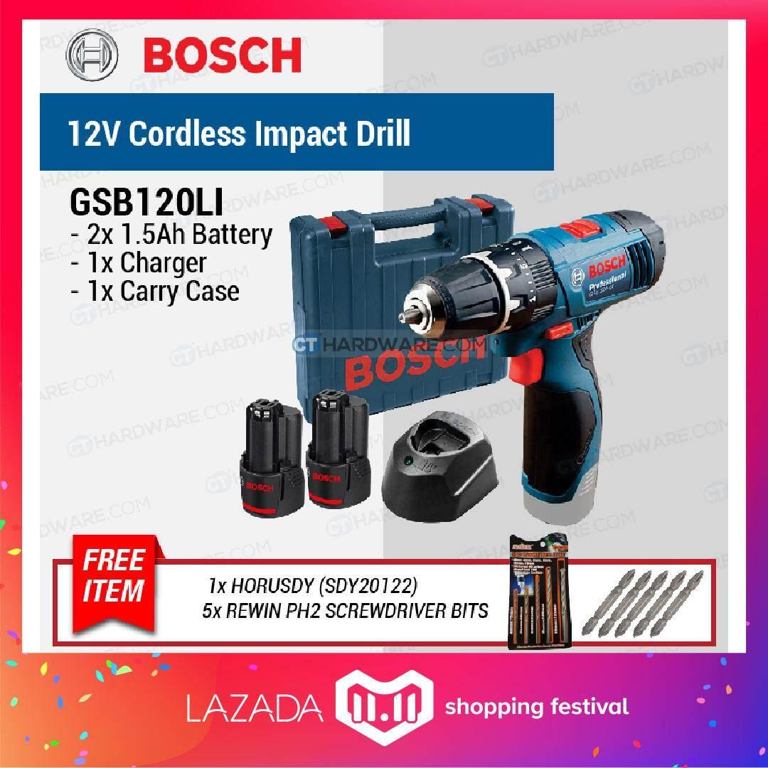 Home Drills Drivers Buy At Best Price In Bosch 8 Pcs 3 10mm Cyl 4 Mata Bor Multi Purpose Set Gsb 120 Li Professional Cordless Impact Drill Driver 12v C W 2x 15