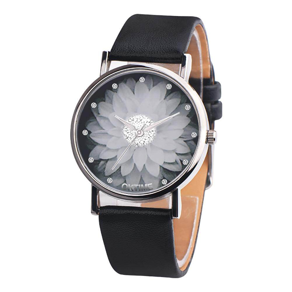 BODHI Fashion Lotus Flower Faux Leather Quartz Wrist Watch Unisex Bracelet Party Gift Malaysia