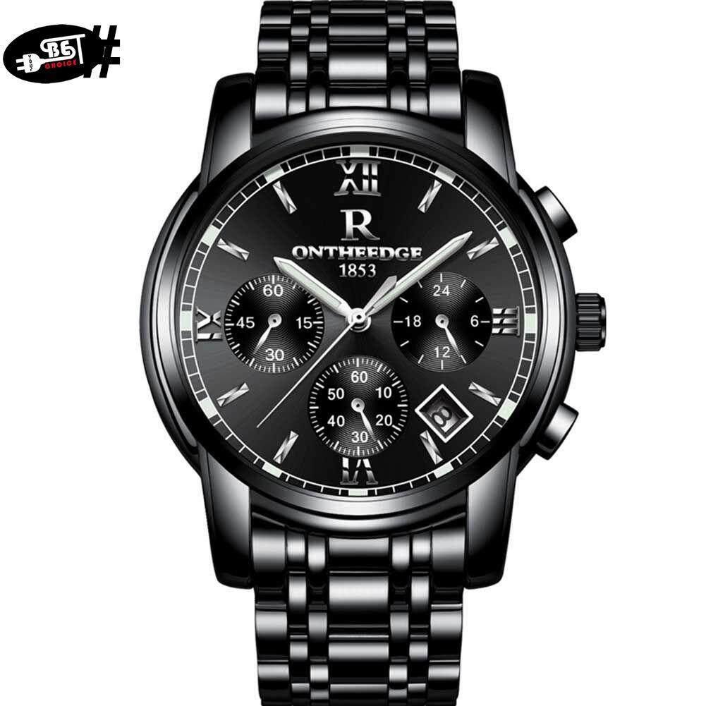 YBC Men Quartz Wrist Watch with Calendar Steel Strap Waterproof Luminous Watches Malaysia