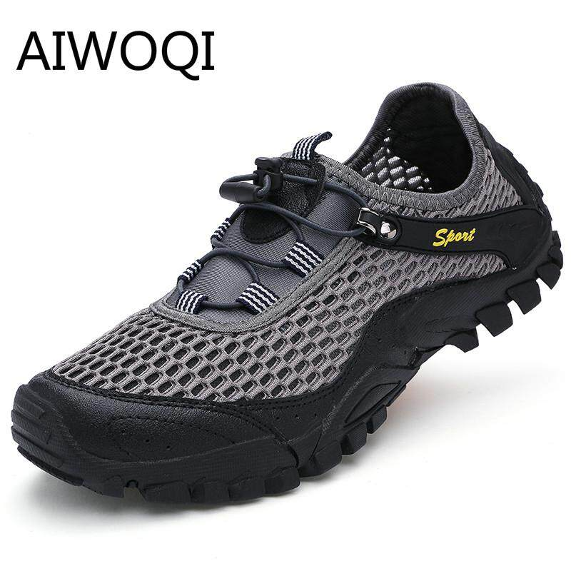 Aiwoqi Real Cow Leather Sandals Men Slippers Sandals Flip Flops Men Fashion Beach Flip Flops Sandals Breathable Men Casual Walking Sandals For Men Sljj004hs By Iswell.