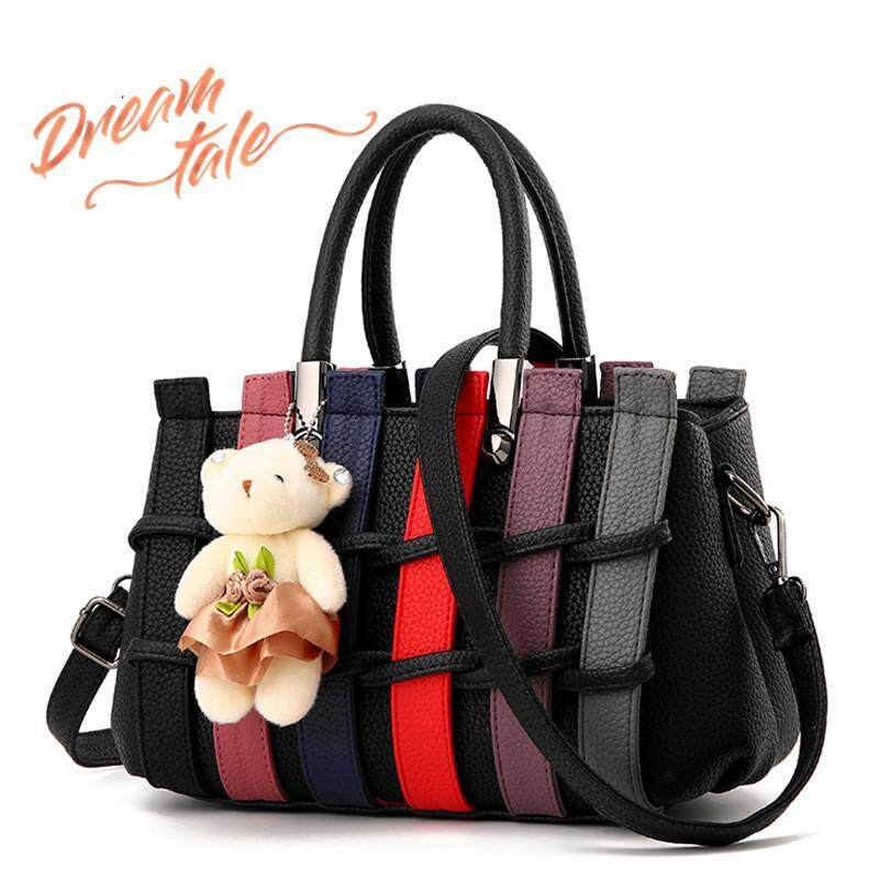 Dreamtale Fashion Women Handbag Handbeg Wanita Multicolour Straw Mat Design  Sling Bag with FREE BEAR keychain c8506ab3ac